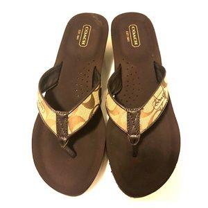 Coach Brown Sandals